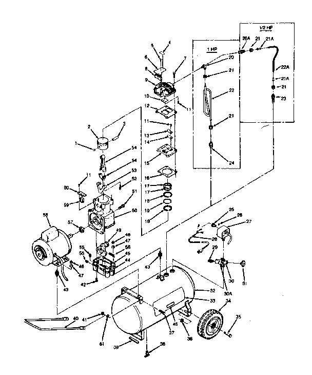 Craftsman model 919178050 air compressor genuine parts