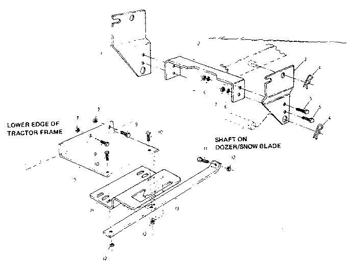 Craftsman model 48626456 snow blade attachment genuine parts