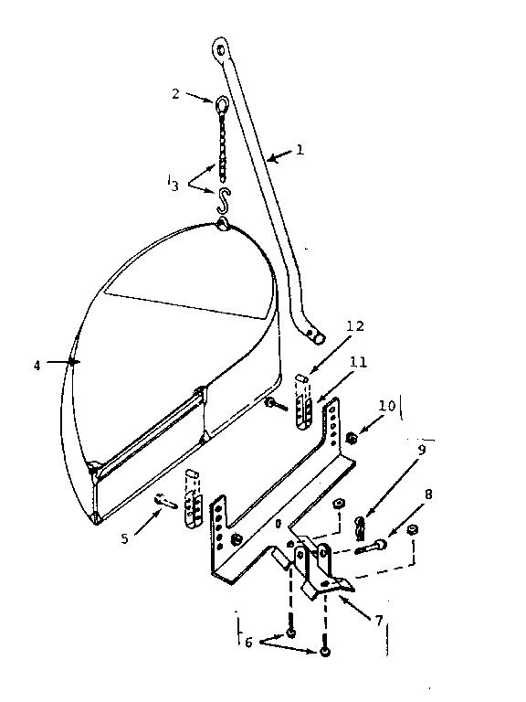 Craftsman model 80438 grass catcher genuine parts