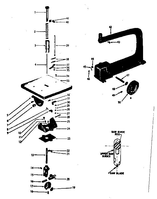 Craftsman model 1032179 saw genuine parts