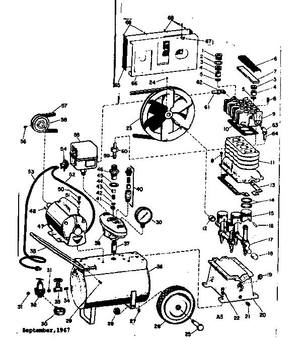 Craftsman model 106152740 air compressor genuine parts