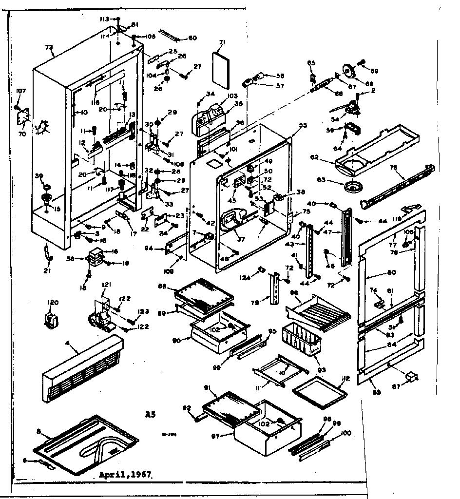 KENMORE COLDSPOT REFRIGERATORS 16.1 CUBIC FEET Parts