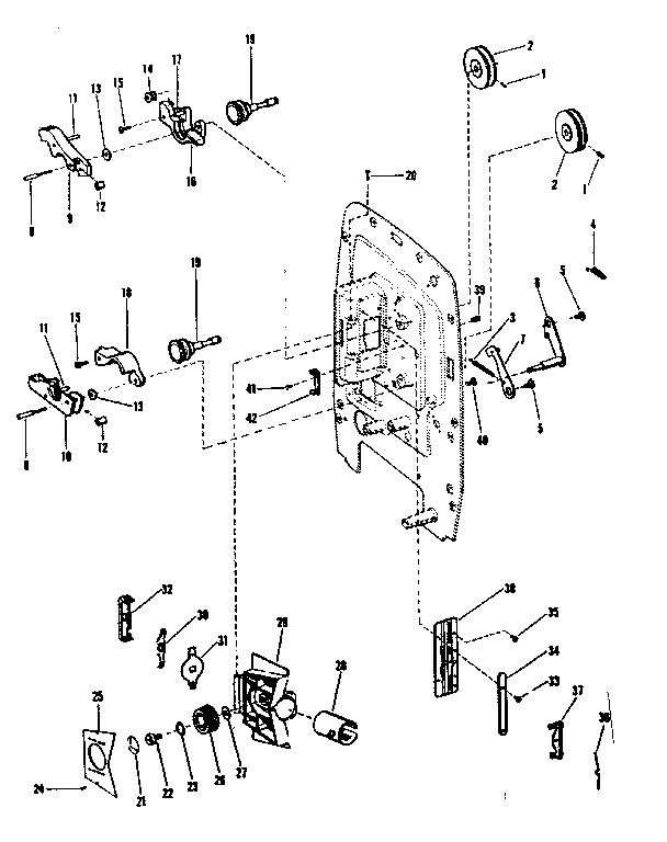 Sears model 9282 projector genuine parts