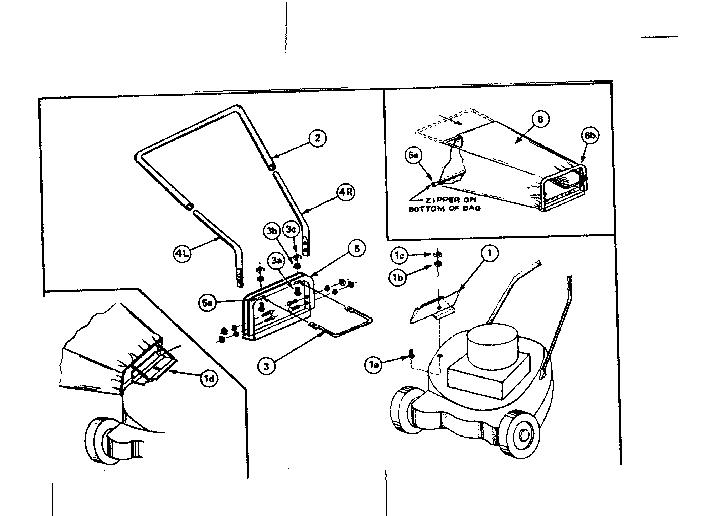 Craftsman model 80002 grass catcher genuine parts