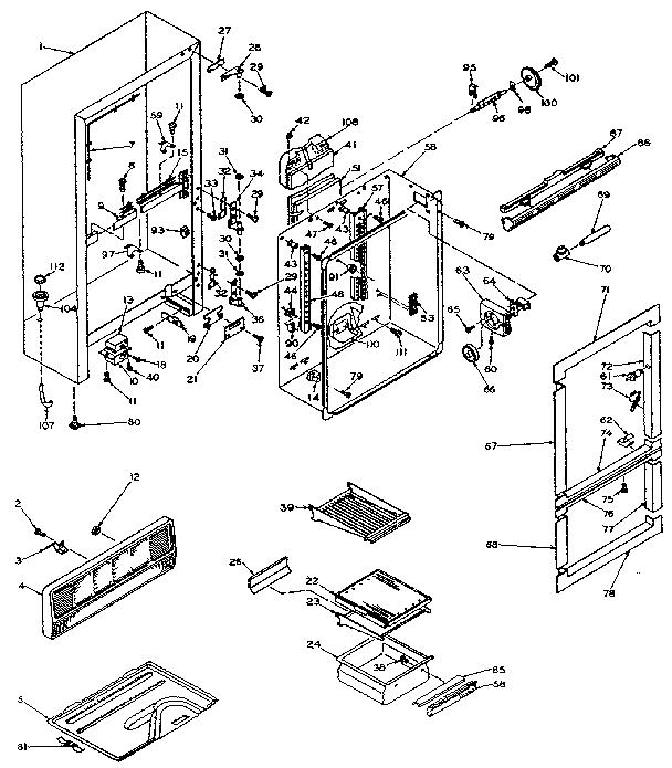 kenmore 106 refrigerator parts diagram monster hunter 3 quests model 106w14f refrigerators misc genuine cabinet