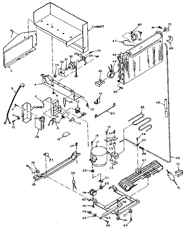 Kenmore model 106W14F refrigerators-misc genuine parts