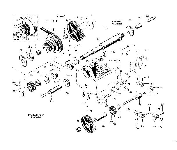 Craftsman model 10128910 lathe genuine parts