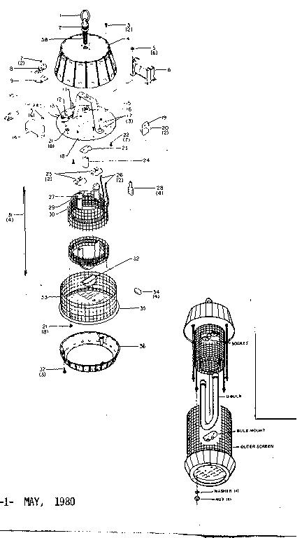 Craftsman model 8331402 insect lantern genuine parts