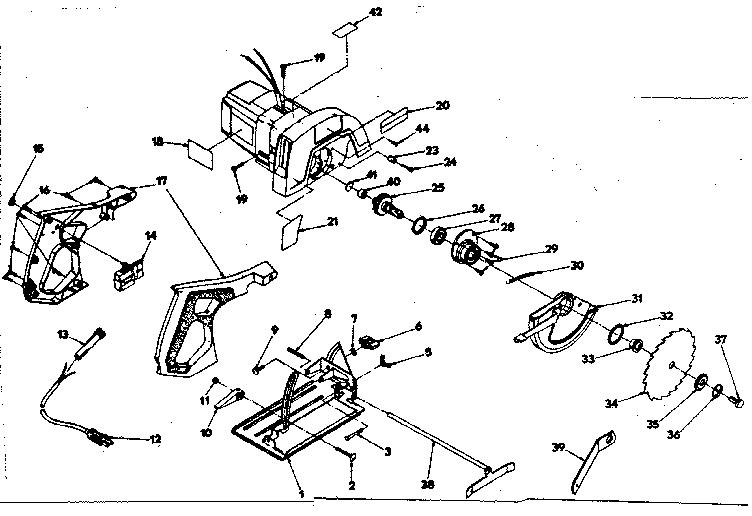 Craftsman model 31510961 circular saw genuine parts