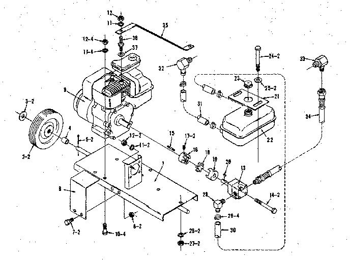 Craftsman model 28667 log splitter genuine parts