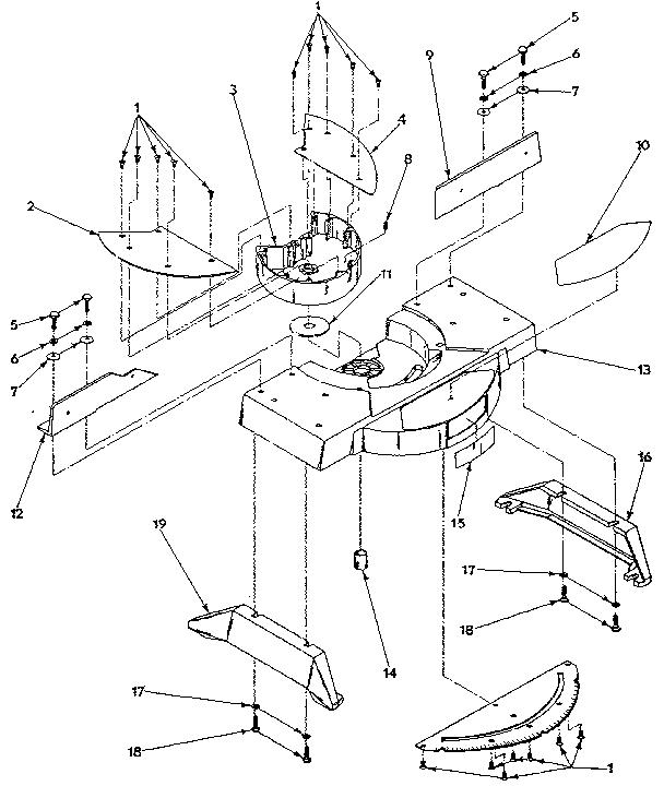 Craftsman model 31523740 miter saw genuine parts