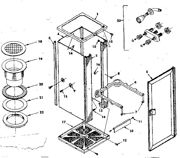 Sears model 58869944 shower door/enclosure genuine parts