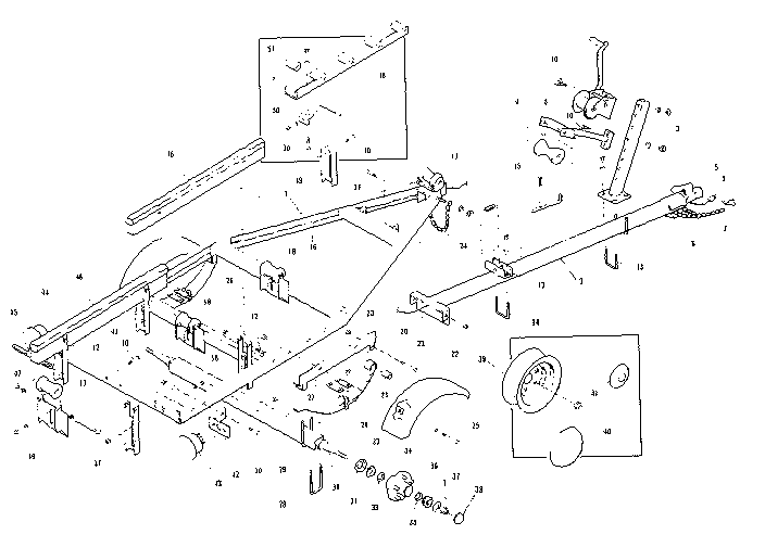Sears model 371645040 trailers genuine parts
