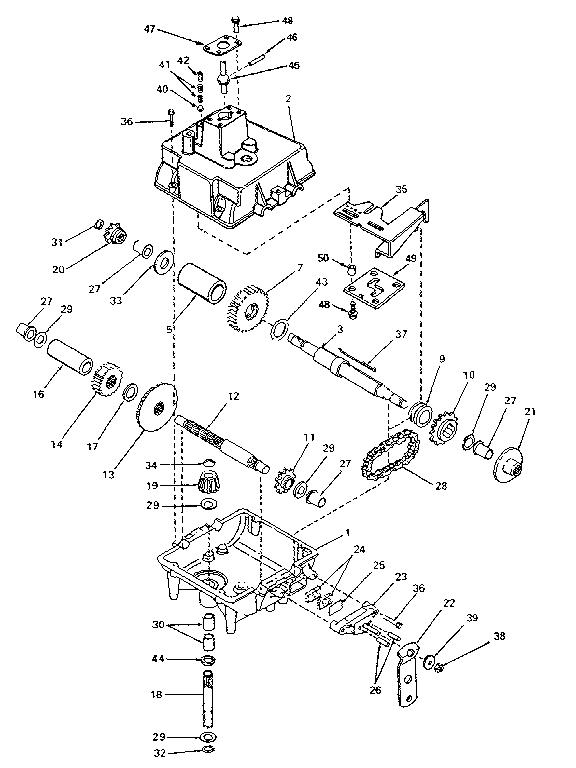 Peerless model 741 transaxle/transmission, tractor genuine