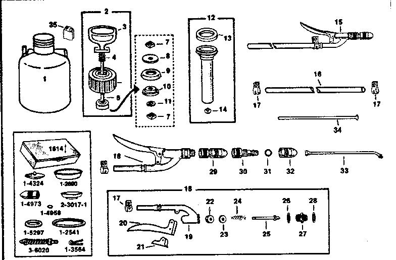 Craftsman model 78614431 sprayer and accessory genuine parts
