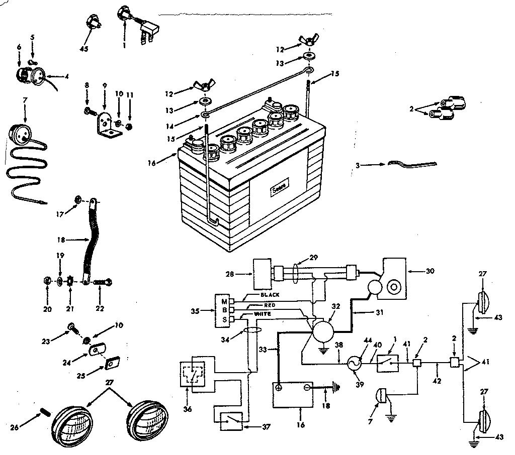 Craftsman model 91725061 lawn, tractor genuine parts