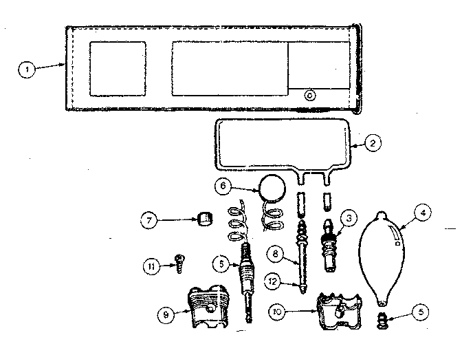 Kenmore model 2622148 blood pressure meter genuine parts