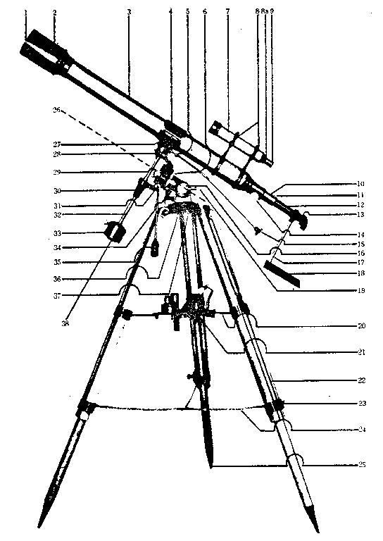 Sears model 6339A telescope genuine parts