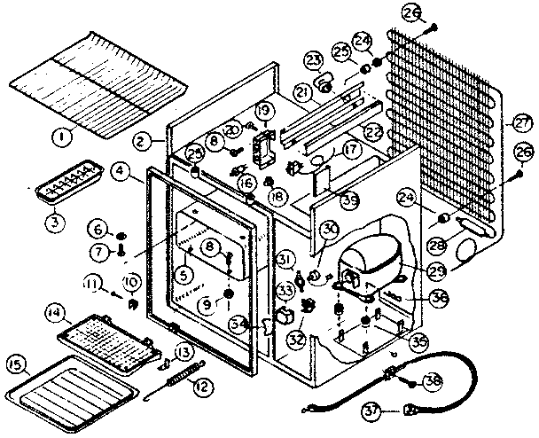 Kenmore model 6127986423 refrigerators-misc genuine parts