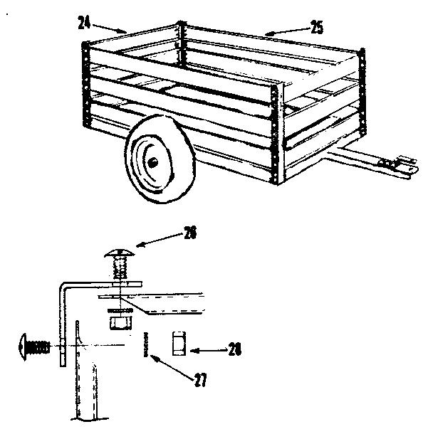Craftsman model 61024357 cart/dump cart attachment genuine