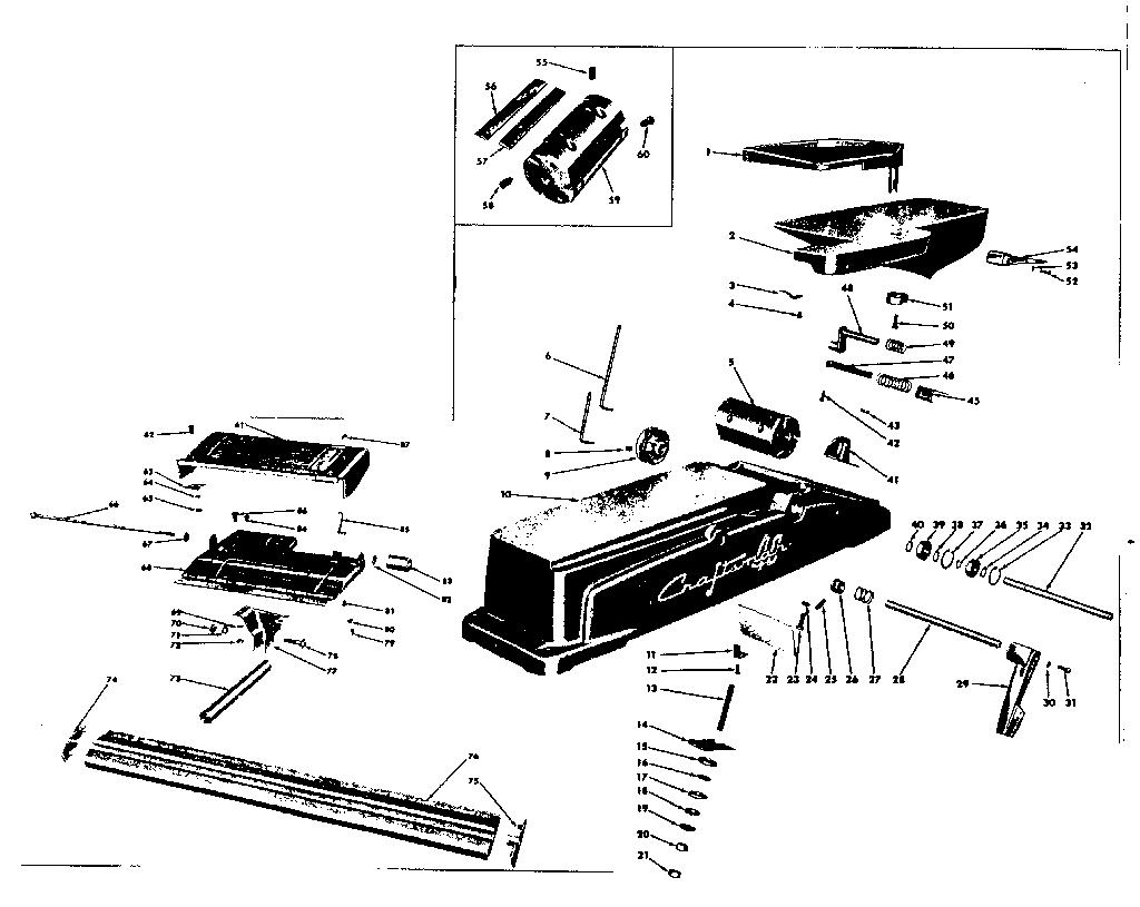 Craftsman model 10320680 jointer/planer genuine parts