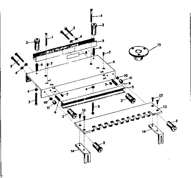 Craftsman model 31525710 workbench / project genuine parts