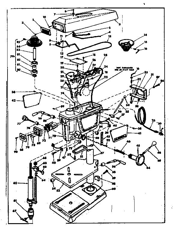 Craftsman model 11324590 drill press genuine parts