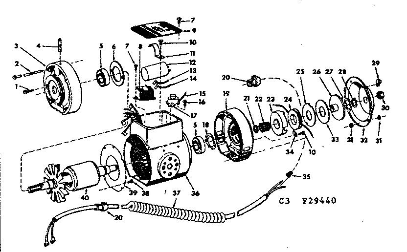 Craftsman model 11329440 saw radial genuine parts