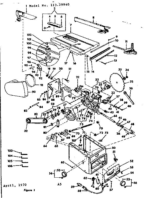 CRAFTSMAN CRAFTSMAN 10 INCH TILTING ARBOR BENCH SAW Parts