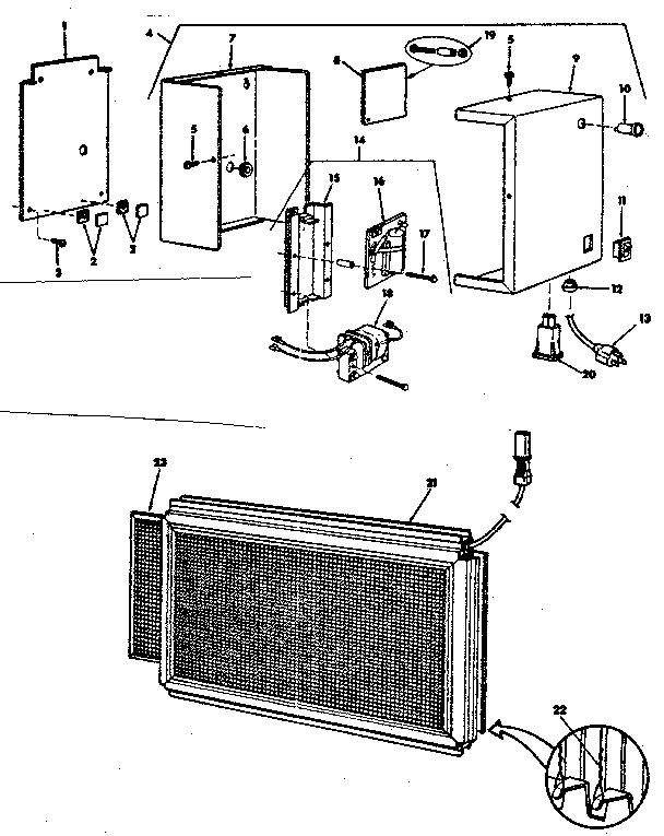 Kenmore model 281836150 air cleaner genuine parts