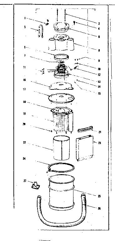 Craftsman model 17846-SHOP VACUUM vacuum cleaner genuine parts
