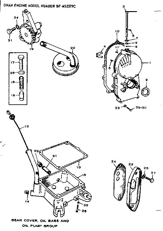 Onan model BF-MS2379C engine genuine parts