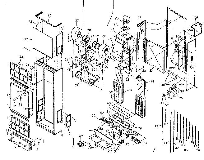 Sears model 867736611 furnace/heater, gas genuine parts