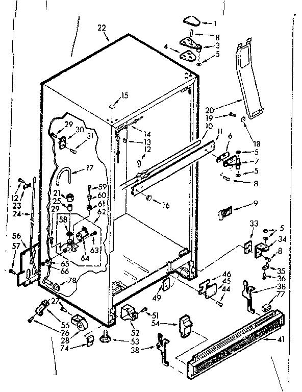 Kenmore model 1067629420 refrigerators-misc genuine parts