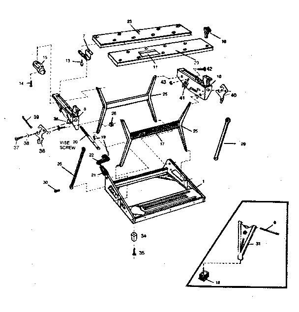 Craftsman model 900288970 workbench / project genuine parts