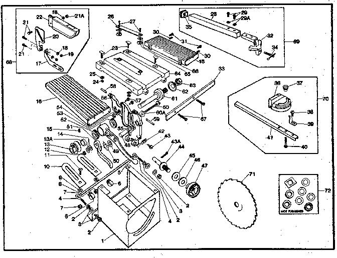 Craftsman model 14924121 saw genuine parts
