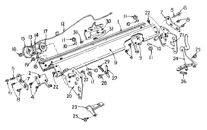Sears model 8711950 typewriter genuine parts