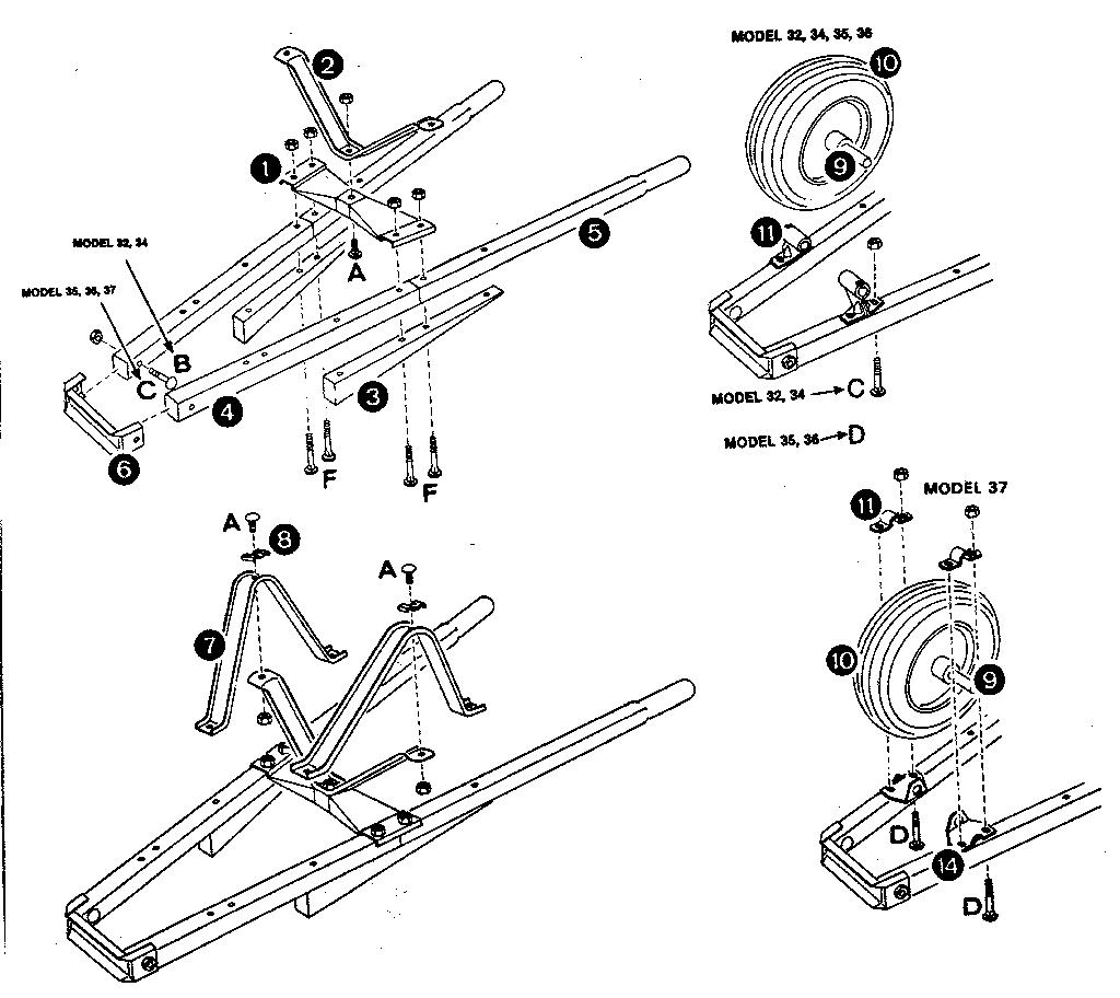 Radio-Steel model 37KD wheelbarrow genuine parts
