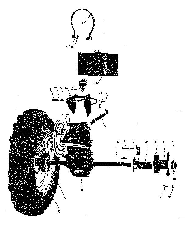 Craftsman model 91757597 lawn, tractor genuine parts