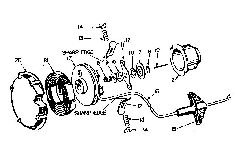 Craftsman model 91760015 chainsaw genuine parts