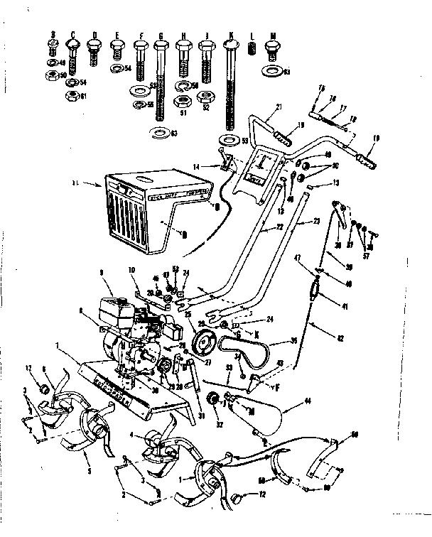 Craftsman model 917298570 front tine, gas tiller genuine parts