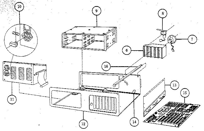 Compaq model 386/20 computer genuine parts