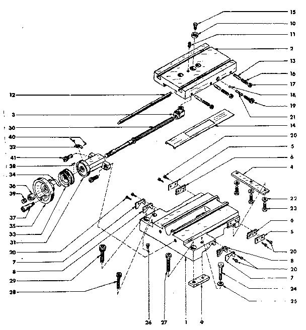 Craftsman model 2893 lathe genuine parts