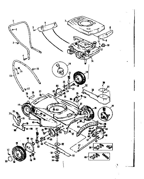 Craftsman model 13197774 lawn mower walk behind genuine parts