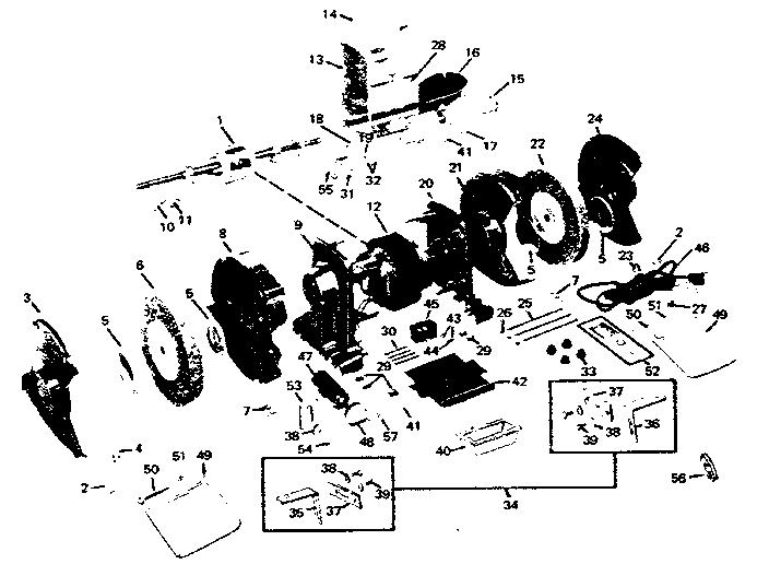 Craftsman model 39719440 grinder genuine parts