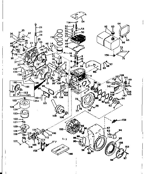 Craftsman model 143569042 engine genuine parts