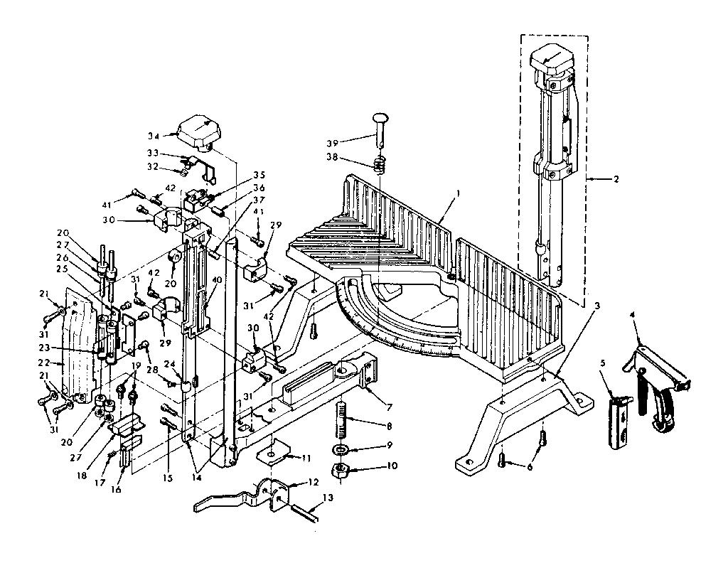 Craftsman model 88136505 miter saw genuine parts