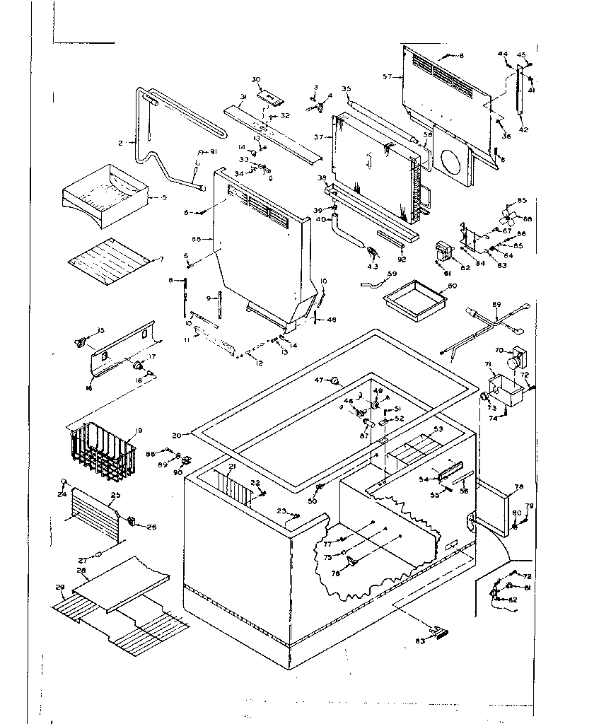 KENMORE COLDSPOT CHEST FREEZER (15.8 CUBIC FEET) Parts