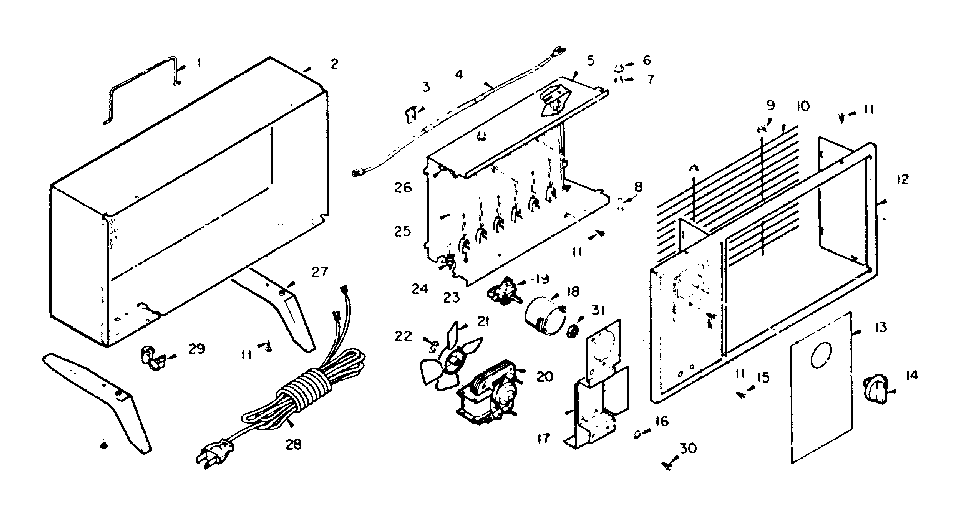 Lasko model 911 space heaters/wall unit genuine parts