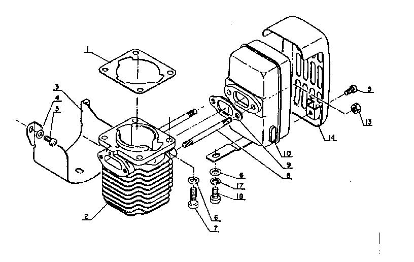 Kioritz model SRM-202FA brush cutter genuine parts